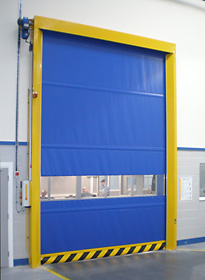 Colour coated, single skin roller door