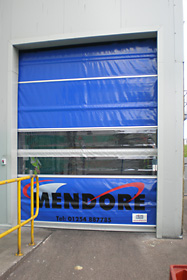 Non-insulated, heavy duty roller door